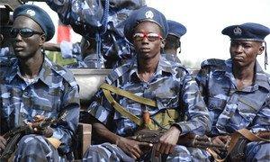 Des policiers du Soudan du Sud.