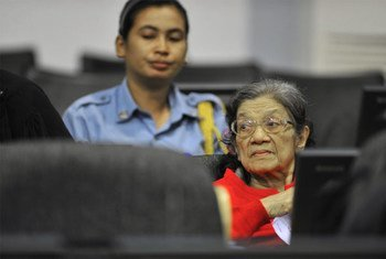 Ieng Thirith during her preliminary hearing in August 2011.