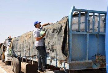 Un convoi d'aide humanitaire du PAM en route pour la capitale libyenne.