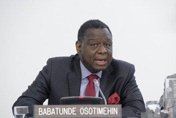Le Directeur exécutif du FNUAP, Babatunde Osotimehin.