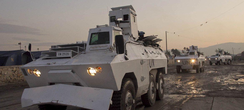 MINUSTAH peacekeepers on patrol.