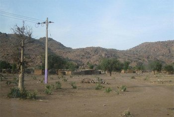 A view of the Nuba Mountains in the state of Southern Kordofan