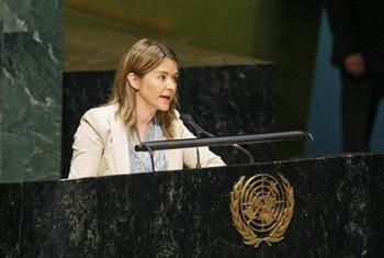 Catarina de Albuquerque, Rapporteuse spéciale des Nations Unies pour le droit à l'eau et à l'assainissement. Photo ONU/JC McIlwaine