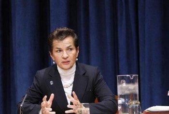 La Secrétaire exécutive de la Convention cadre des Nations Unies sur les changements climatiques, Christiana Figueres.