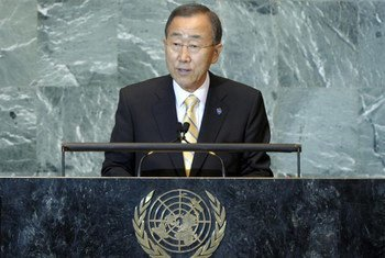 Secretary-General Ban Ki-moon addresses world leaders gathering for the high-level debate of the 66th General Assembly Session