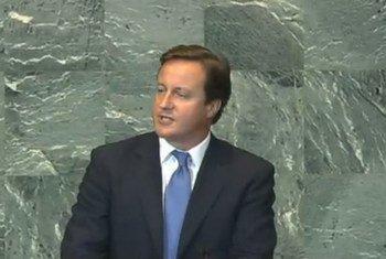 Prime Minister David Cameron of the United Kingdom