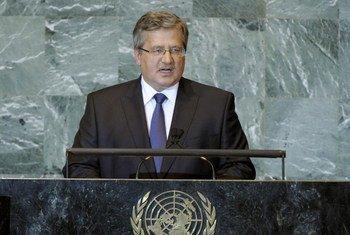 President of Poland Bronislaw Komorowski