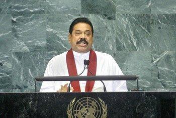 President Mahinda Rajapaksa of Sri Lanka.