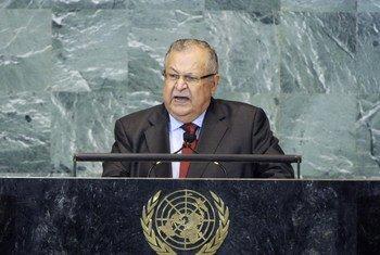 Le Président Jalal Talabani d'Iraq.