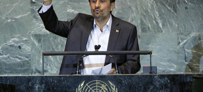 President Mahmoud Ahmadinejad at the General Assembly