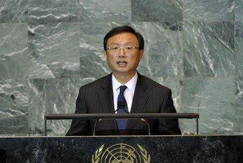 Le Ministre des affaires étrangères de la Chine, Yang Jiechi.