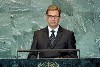 Le Ministre allemand des affaires étrangères, Guido Westerwelle.