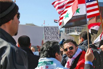 Syrian protesters.