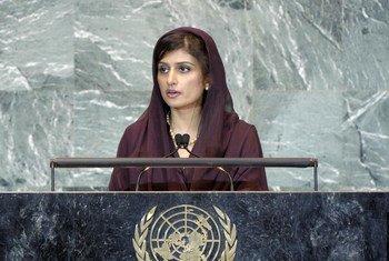 La Ministre pakistanaise des affaires étrangères, Rabbani Khar.