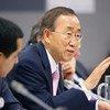 Secretary-General Ban Ki-moon (right) addresses UN-ASEAN meeting. At left is Nassir Abdulaziz Al-Nasser, President of the General Assembly