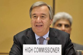 High Commissioner for Refugees António Guterres addresses the agency's annual Executive Committee meeting