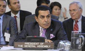 Le Président de l'Assemblée générale, Nassir Abdulaziz Al-Nasser.