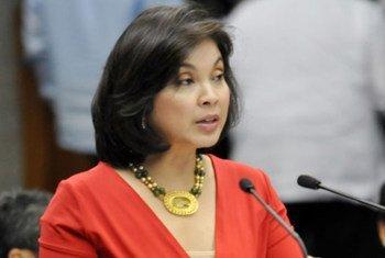 Senator Loren Legarda of the Philippines, UNISDR champion on disaster risk reduction for Asia-Pacific