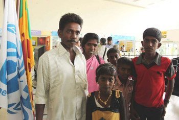 Members of a family who left Sri Lanka in 2006 due to the conflict and spent their time in a camp in Tamil Nadu, India, returned home in 2011