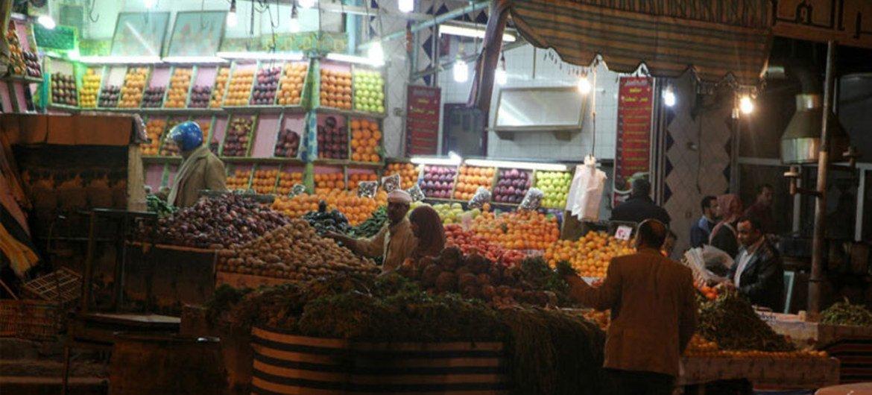 A market scene in Sallum, Egypt.