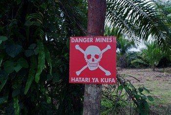 Avertissement anti-mines.