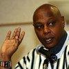 Le Rapporteur spécial sur les droits à la liberté de rassemblement pacifique et d'association, Maina Kiai. Photo ONU/Jean Marc Ferré