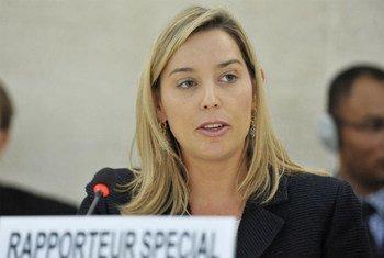 Relatora de la ONU sobre la independencia de jueces y abogados, Gabriela Knaul   Foto: ONU