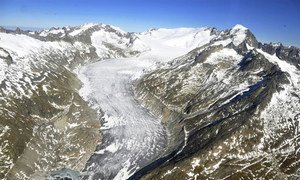 A view of the Swiss glaciers