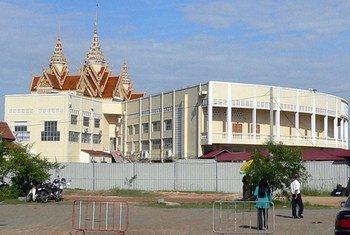Le bâtiment des Chambres extraordinaires au sein des tribunaux cambodgiens, à Phnom Penh.