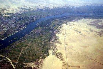 Vue aérienne du Bassin du Nil.