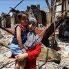 Разрушения после  трагических событиях на юге Кыргызстана в 2010 году