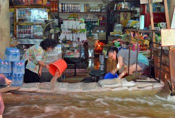 Unusually heavy rainfall in Thailand has left vast swathes of the country including the capital, Bangkok, inundated