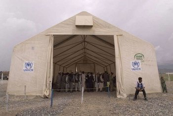A UNHCR encashment centre in Kabul sees up to 400 families returning from Pakistan daily