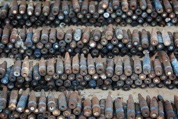 Des armes collectées en Libye pour éviter la prolifération d'armes. Photo Giovanni Diffidenti.
