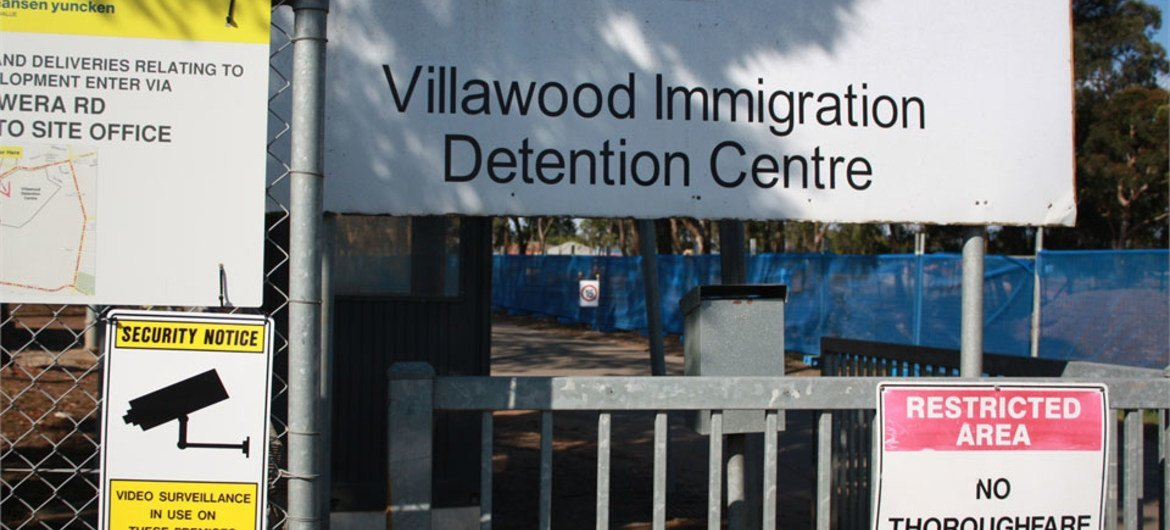Villawood Immigration Detention Centre outside Sydney, Australia, which houses asylum-seekers.