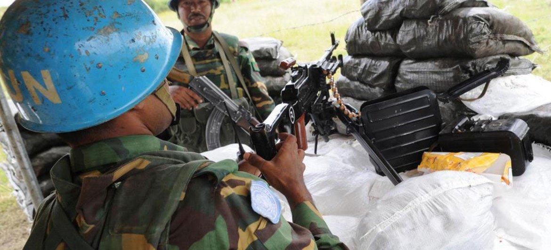 Des Casques bleus de la MINUSS déployés dans l'Etat de Jonglei. ONU Photo/Tim McKulka