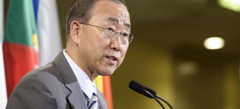 Le Secrétaire général de l'ONU, Ban Ki-moon.