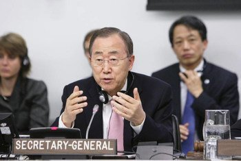 Secretary-General Ban Ki-moon briefs the General Assembly on the outcome of the Group of 20 Summit and his visit to Libya