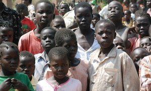 South Sudanese children displaced by attacks by the rebel Lord's Resistance Army (LRA) in the town of Mundri, Western Equatoria state.