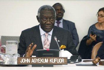 L'ex-Président du Ghana, John Agyekum Kufuor.