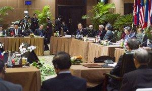 Secretary-General Ban Ki-moon addresses ASEAN summit in Bali, Indonesia