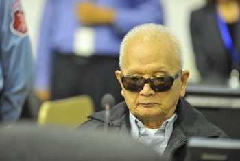 Nuon Chea appears before the Extraordinary Chambers in the Courts of Cambodia on 21 November 2011