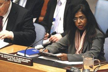 La Représentante spécial Ameerah Haq.