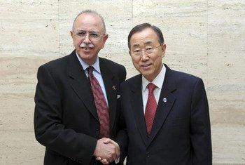 利比亚总理凯卜与潘基文