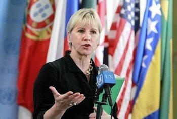 La Représentante spéciale sur la violence sexuelle dans les conflits, Margot Wallström. Photo ONU/Rick Bajornas