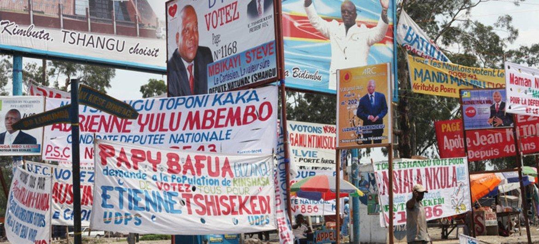 Electoral campaign in the Democratic Republic of the Congo.