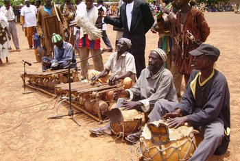 Musiciens traditionnels au Mali.