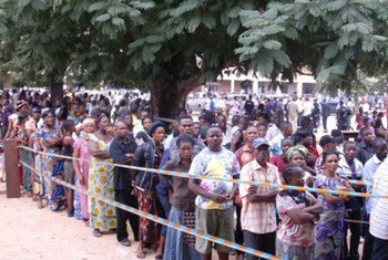 People in Kisangani turn out in massive numbers to vote in national elections