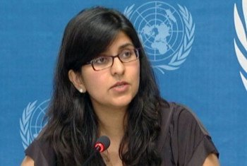 La porte-parole du HCDH, Ravina Shamdasani.