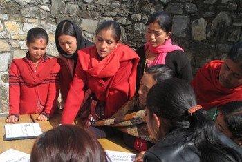 Voter registration in Nepal.